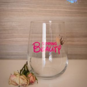Sipping Beauty Stemless Gin Glass